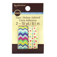 Chevron & Mini Dot Washi Tape by Recollections